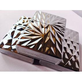 Encendedor Tipo Zippo / Plateado Relieves Texturas Modelos
