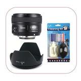 Lente Yongnuo 50mm F/1.8 Para Nikon + Kit Limpieza +parasol