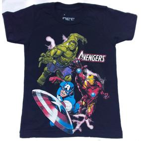 Franelas Niños Superhéroes Flash Capitan America Spiderman