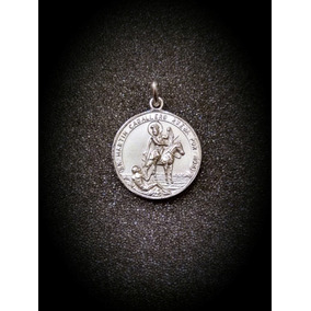 Medalla Plata 925 San Martin Caballero