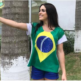 T Shirt Brasil - Camisetas e Blusas Manga Curta para Feminino no ... eb9e8005d1561