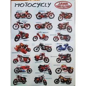 Pôster Moto Jawa Quadro Moto Antiga