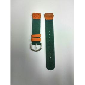 Pulseira Timex Em Tecido Verde E Couro T77601 18mm Co.16884