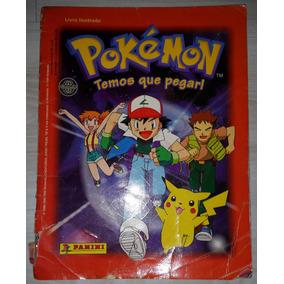 Álbum Figurinhas Pokémon Temos Que Pegar Panini 1999