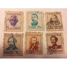 6 Selos Série Vultos Célebres 1898 (falta 1 Para Completar)