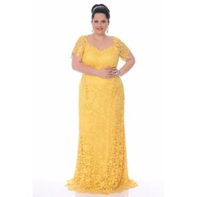 Vestido Renda Guipir Festa Madrinha Noiva Senhora Plus Size