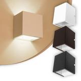 Arandela Kit 3 Luminária De Parede Frisada Dois Fachos Box