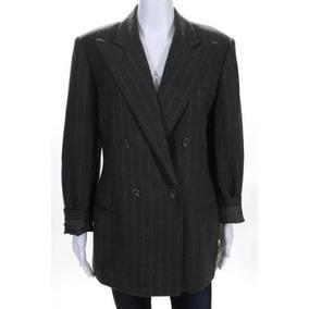 Blazer Importado M Ralph Lauren Luxuoso Elegante Lã Cinza 9a43b81d9e7
