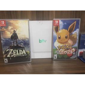 .jogo Zelda Breth Do The Wild + Pokémon Eeve-nintendo Switch