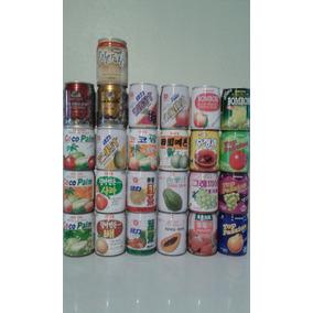 Set Latas Pequenas Japonesas. Latas Chá Suco Café