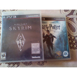 Juegos Ps3 (fisicos) Skyrim Y Harry Potter 7