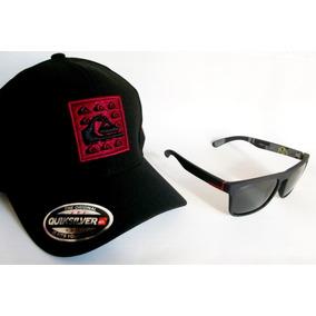 12a80e43e26eb Kit Masculino + Óculos De Sol Espelhado + Boné Preto + Frete