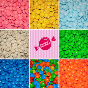 Lentejas De Chocolate X 500 Gramos X Color! Ideal Candy Bar