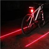 Lanterna Traseira Bike Laser Regulável Com Suporte Gratis