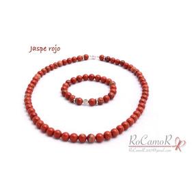 Collar De Jaspe Rojo #rocamor A Juego Con Pulsera