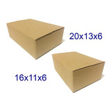 250 Caixas De Papelão Mercado Envios 20x13x6cm E 16x11x6