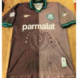 Camisa Palmeiras Usada Jogo 1997 Autografada 11 Jogadores c8e3d2d672c94