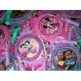 Juguete Cuerda Saltar Moana, Minnie Mouse Y Princesas Disney