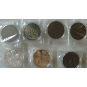 Lote Com 6 Medalhas Beatles + Brindes (melhor Preço)