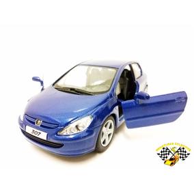 Miniatura Peugeot 307 Xsi Azul Kinsmart 1:32