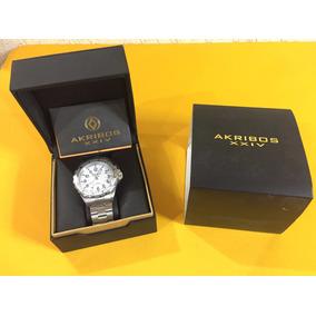 Reloj Akribos Xxiv Ak689wt Silver Tone Nuevo