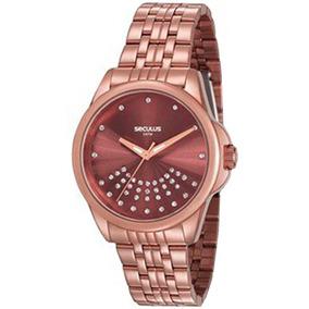 744edeb74e2 Relogio Feminino Seculus Marrom - Relógios De Pulso no Mercado Livre ...