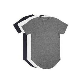 Kit C 3 Un Camisas Blusas Masculinas Longline Oversize Swag 0b35cf839f726