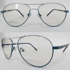 Armacao Para Oculos Retangular Fina Aviador - Óculos no Mercado ... e0b1c99201