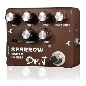 Pedal Guitarra Joyo Dr J Sparrow Bass Overdrive E Direct Box