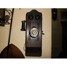 Antigo Telefone De Parede A Manivela.. Lindooooooo.