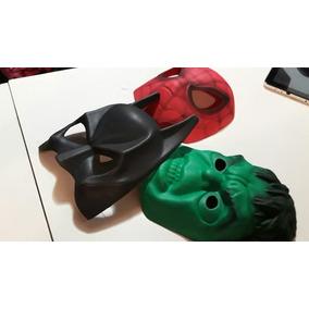 Kit X3 Máscaras Super Héroe Goma Eva Fiestas Cumples Obras