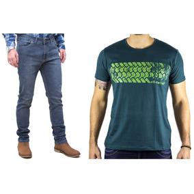Kit Masculino Calça Jeans Stone Camisa Verde All Terrain Atr