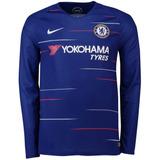 Camisa Chelsea Manga Longa Camisas Times Ingleses Masculina ... 150b9bdfadca3