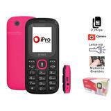 Ipro I3100 Rosa Lançamento Rosa 2chips Camera Fone