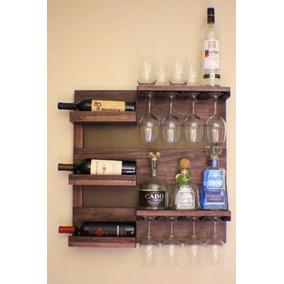 Adega De Madeira Mini Bar Para Vinhos Porta Taças Copos