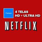 Cartão Presente Netflix Mensal 4 Telas Premium R$18,00