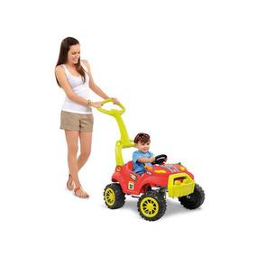 Carrinho De Passeio Pedal Com Buzina Vermelho Infantil 461