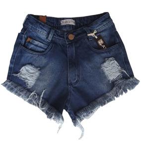 Shorts Feminino Jeans Bordado / Customizado / Colorido