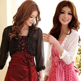 Chaleco Saco Negro Floral Fiesta Estilo Coreano Talla 3xl