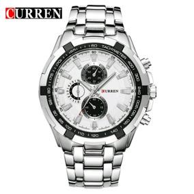 Relógio Curren Unissex Luxo Aço Prova D