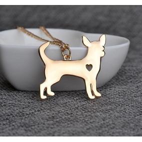Collar Perrito Chihuahua Dorado Regalo Mascotas N-222