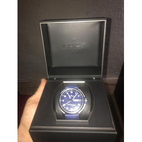 Edox Chronorally S Piel Azul Italiana
