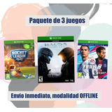 Fifa 19 Champios Edition, Halo 5, Rocket League Deluxe