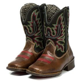 f47b2709920f8 Bota Cowboy Infantil Texana Silverado Wafer Couro Floater