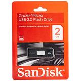 Unidades Flash Usb,sandisk 2 Gb Cruzer Micro Usb Flash D..