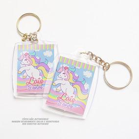 30 Chaveiro Unicornio Personalizado Lembrança Festa