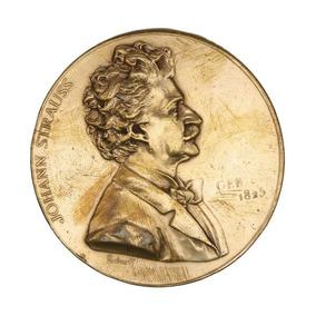 Medalha Do Século Xix Johann Strauss