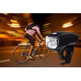 Kit 02 Lanterna De Ciclismo Resistente A Água Com 5 Leds