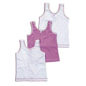 ¡oferta! 37100 Pack 3 Camisetas Niña Marca Ilusion Original