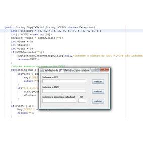 Código Fonte Java Para Validação Cpf Cnpj Incrição Estadual